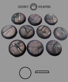 Secret Weapon Miniatures - SWM Flagstone 30mm Bases (10) Secret Weapon Bases BLACK FRIDAY NOW