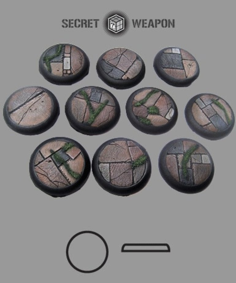 Secret Weapon Miniatures - SWM CLEARANCE Flagstone 30mm Bases (10) Secret Weapon Bases