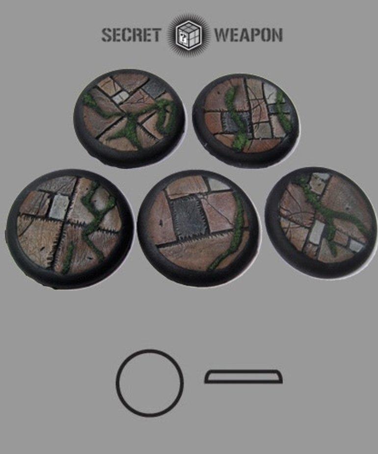 Secret Weapon Miniatures - SWM Flagstone 40mm Bases (5) Secret Weapon Bases BLACK FRIDAY NOW