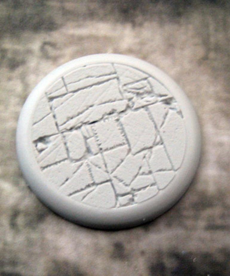Secret Weapon Miniatures - SWM CLEARANCE Flagstone 50mm Base 04 Secret Weapon Bases