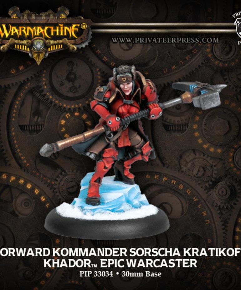 Privateer Press - PIP Warmachine - Khador - Forward Kommander Sorscha Kratikoff - Epic Warcaster (Sorscha 2)