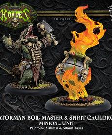 Privateer Press - PIP Hordes - Minions - Gatorman Boil Master & Spirit Cauldron - Unit
