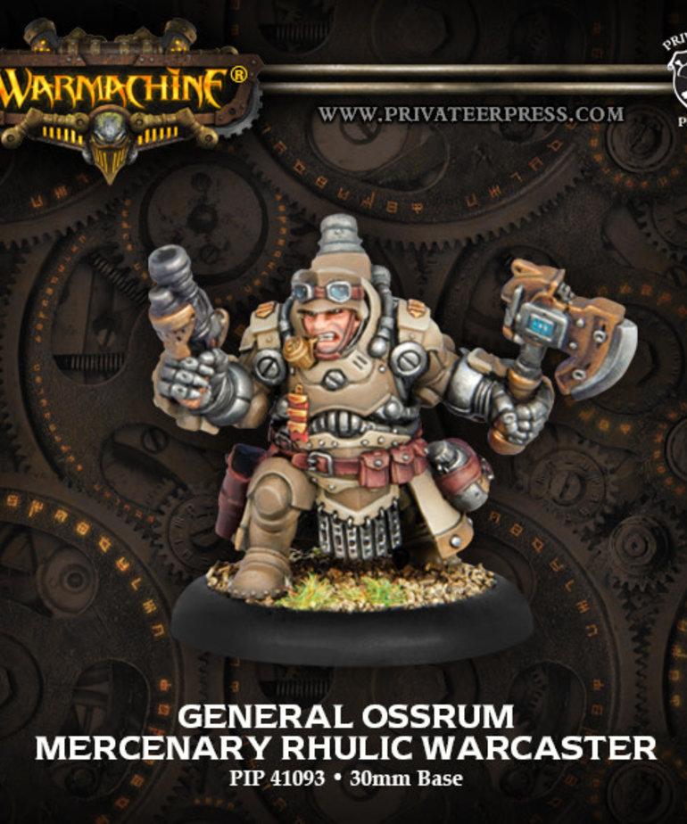 Privateer Press - PIP Warmachine - Mercenaries - General Ossrum - Rhulic Warcaster (Ossrum 1)