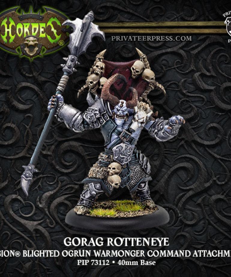 Privateer Press - PIP Hordes - Legion of Everblight - Gorag Rotteneye - Blighted Ogrun Warmonger Command Attachment