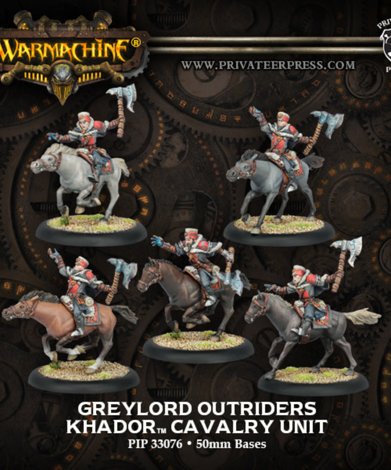 Privateer Press - PIP Warmachine - Khador - Greylord Outriders - Cavalry Unit