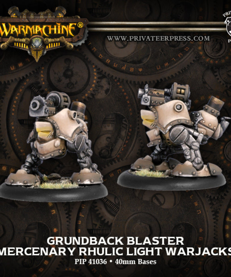 Privateer Press - PIP Warmachine - Mercenaries - Grundback Blaster - Rhulic Light Warjacks