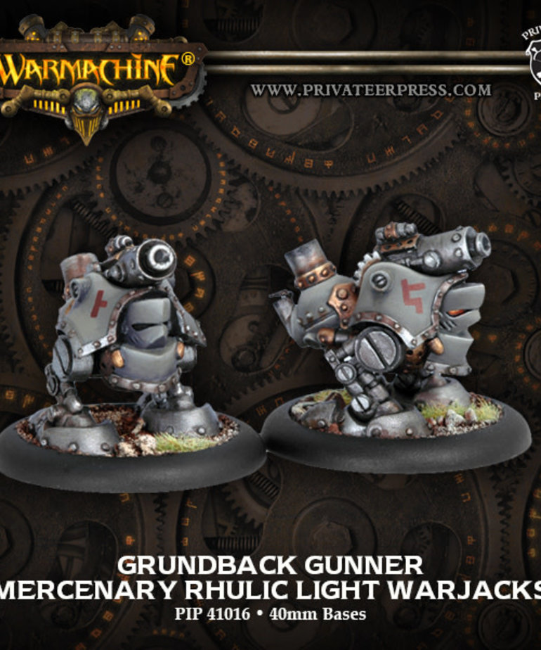 Privateer Press - PIP Warmachine - Mercenaries - Grundback Gunner - Rhulic Light Warjacks
