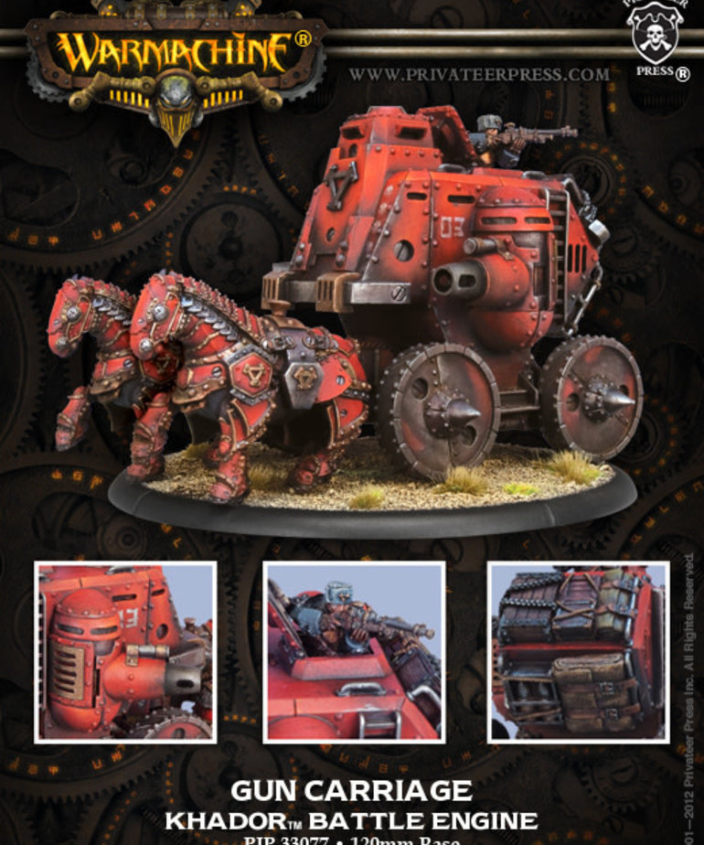Privateer Press - PIP Warmachine - Khador - Gun Carriage - Battle Engine