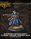 Privateer Press - PIP Warmachine - Cygnar - Gun Mage Captain Adept - Arcane Tempest Solo