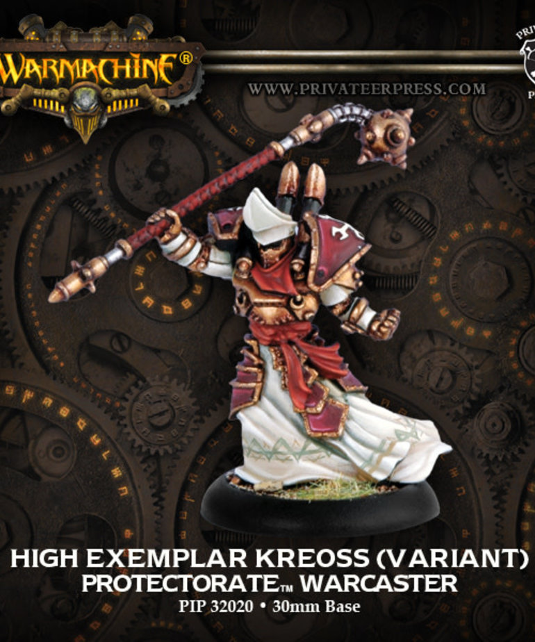 Privateer Press - PIP Warmachine - Protectorate of Menoth - High Exemplar Kreoss - Warcaster (Kreoss 1)