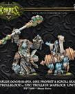 Privateer Press - PIP Hordes - Trollbloods - Hoarluk Doomshaper, Dire Prophet & Scroll Bearer - Epic Trollkin Warlock Unit (Hoarluk 3)