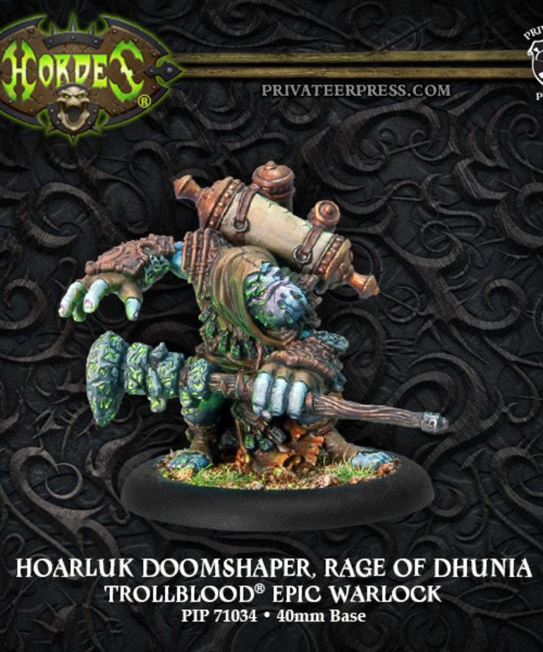 Privateer Press - PIP Hordes - Trollbloods - Hoarluk Doomshaper, Rage of Dhunia - Epic Warlock (Hoarluk 2)