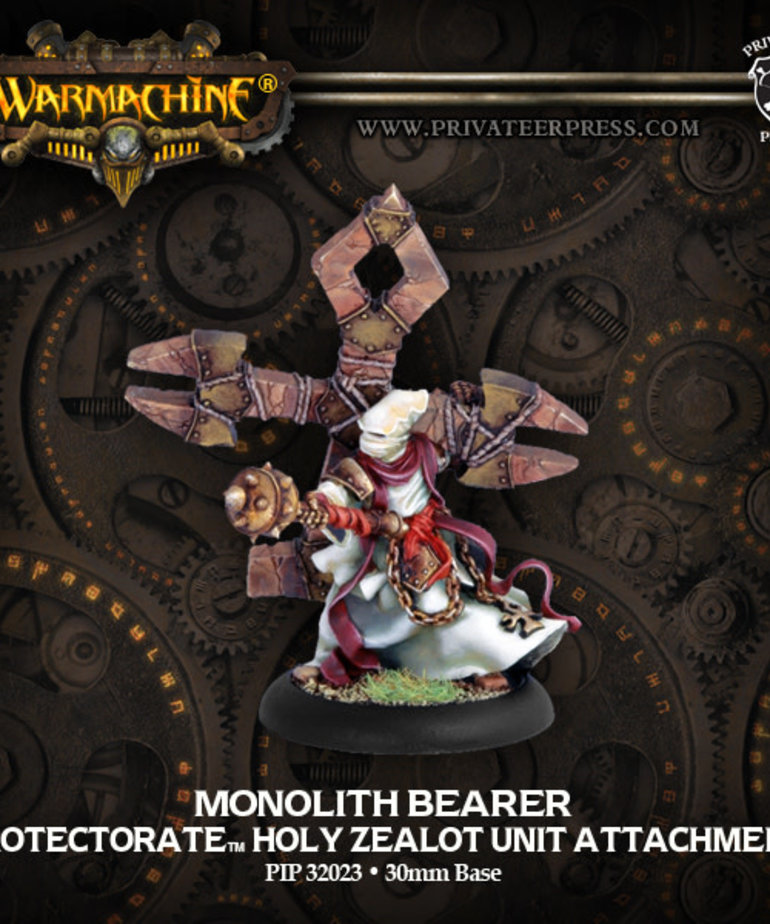 Privateer Press - PIP Warmachine - Protectorate of Menoth - Monolith Bearer - Holy Zealot Unit Attachment
