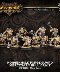 Privateer Press - PIP Warmachine - Mercenaries - Horgenhold Forge Guard Unit - Rhulic Unit