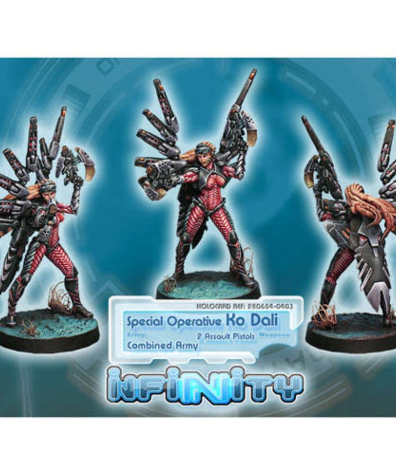 Corvus Belli - CVB Infinity: Combined Army - Special Operative, Ko Dali (2 Aslt Pistol)