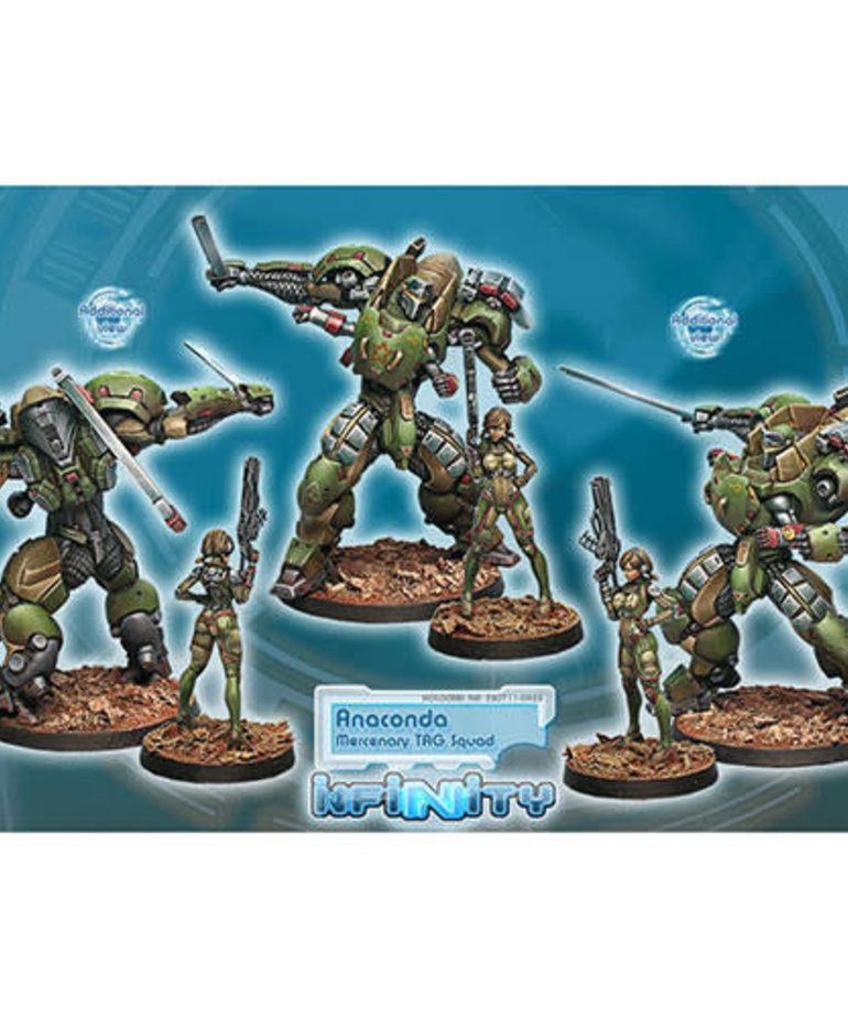 Corvus Belli - CVB Infinity: Mercenaries - Anaconda, Mercenary TAG Squadron