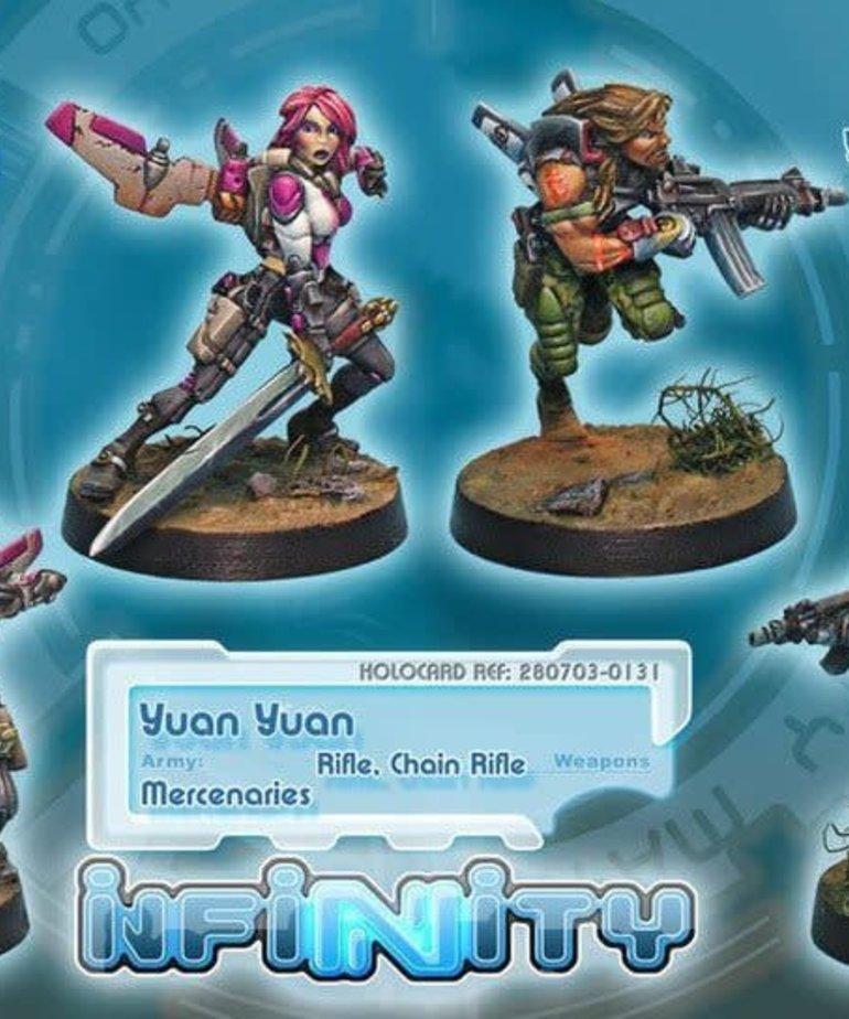 Corvus Belli - CVB Infinity: Mercenaries - Yuan Yuan (Rifle, Chain Rifle)