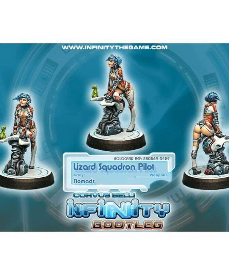 Corvus Belli - CVB Infinity: Nomads - Bootleg Lizard Squadron Pilot