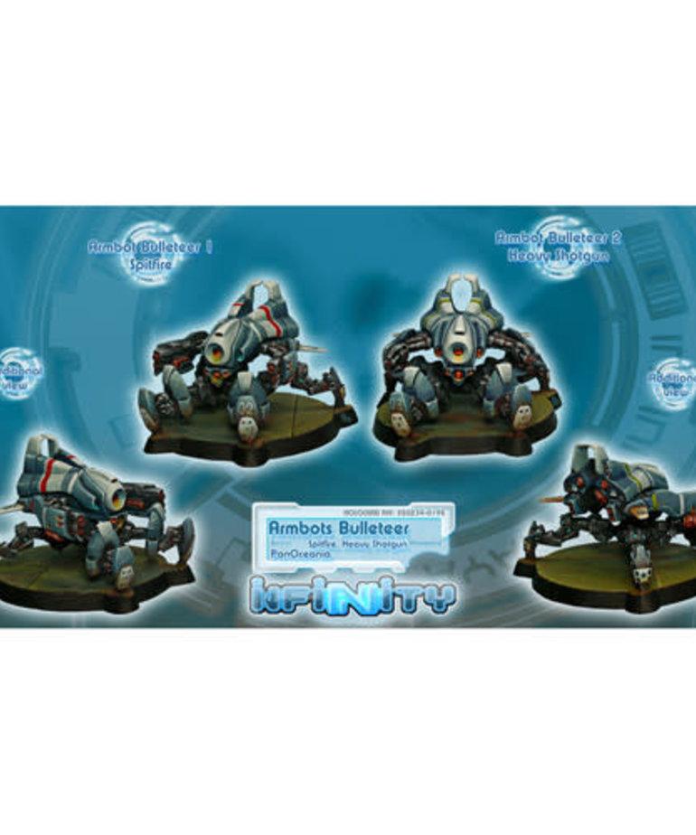 Corvus Belli - CVB Infinity: PanOceania - Armbots Bulleteer Unit Box (Spitfire, Hvy Shotgun) (2)