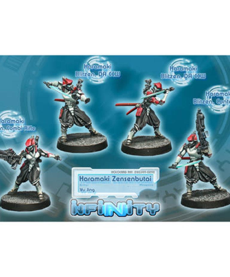 Corvus Belli - CVB Infinity: Yu Jing - Haramaki Zensenbutai Unit Box (4) BLACK FRIDAY NOW