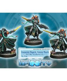 Corvus Belli - CVB Infinity: Yu Jing - Imperial Agent, Crane Rank (Multi Rfl, Monofilament CCW)
