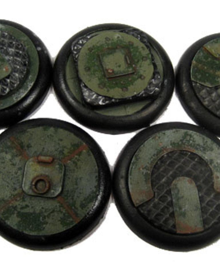 Secret Weapon Miniatures - SWM CLEARANCE Iron Deck 40mm Bases (5) Secret Weapon Bases