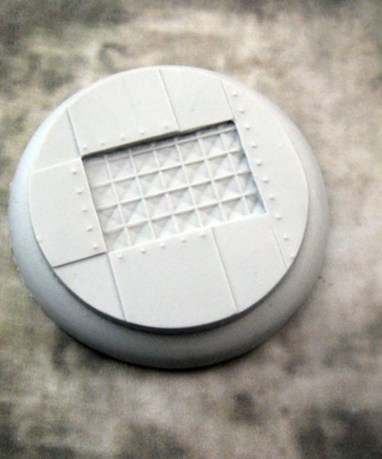 Secret Weapon Miniatures - SWM CLEARANCE Iron Deck 50mm Base 03 Secret Weapon Bases