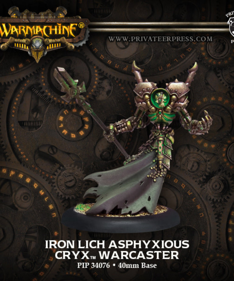Privateer Press - PIP Warmachine - Cryx - Iron Lich Asphyxious - Warcaster (Asphyxious 2)