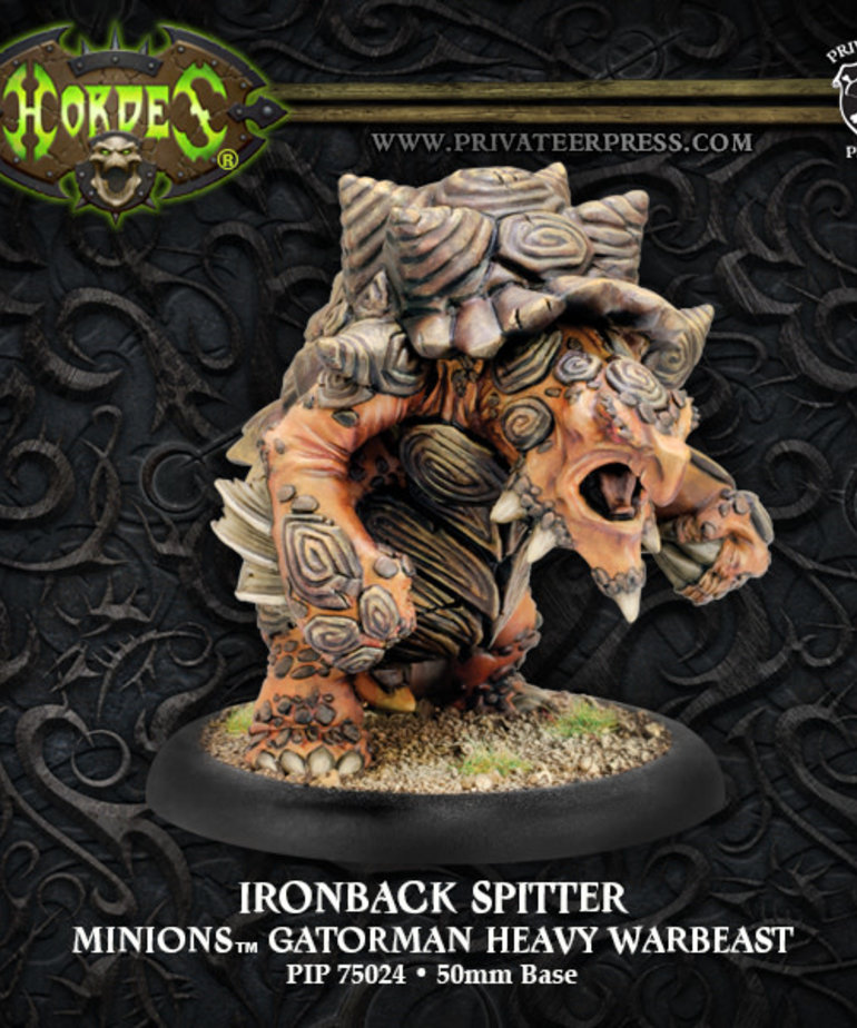 Privateer Press - PIP Hordes - Minions - Ironback Spitter - Gatorman Heavy Warbeast