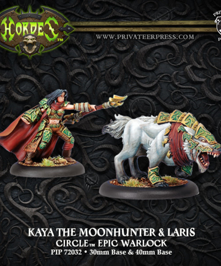 Privateer Press - PIP Hordes - Circle Orboros - Kaya the Moonhunter & Laris - Epic Warlock (Kaya 2)