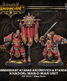Privateer Press - PIP Kommandant Atanas Arconovich & Standard
