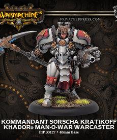 Privateer Press - PIP Warmachine - Khador - Kommandant Sorscha Kratikoff - Man-O-War Warcaster (Sorscha 3)