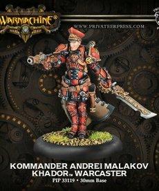 Privateer Press - PIP Warmachine - Khador - Kommander Andrei Malakov - Warcaster (Andrei 2)