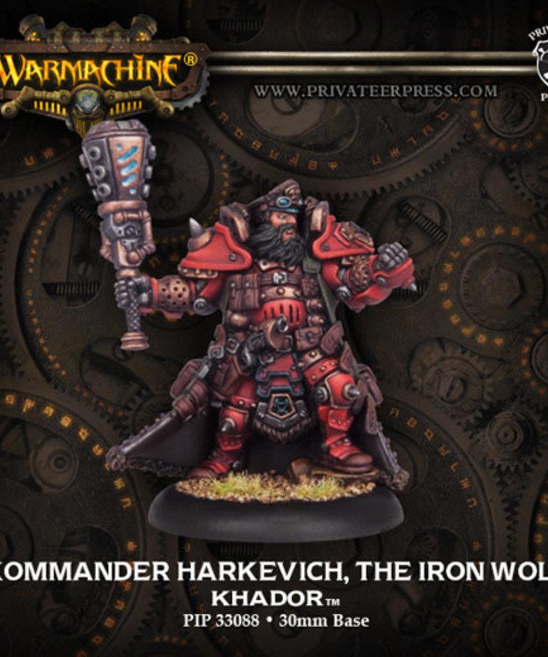Privateer Press - PIP Warmachine - Khador - Kommander Harkevich, The Iron Wolf