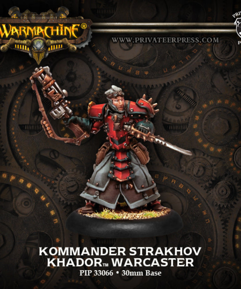 Privateer Press - PIP Warmachine - Khador - Kommander Strakhov - Warcaster (Strakhov 1)