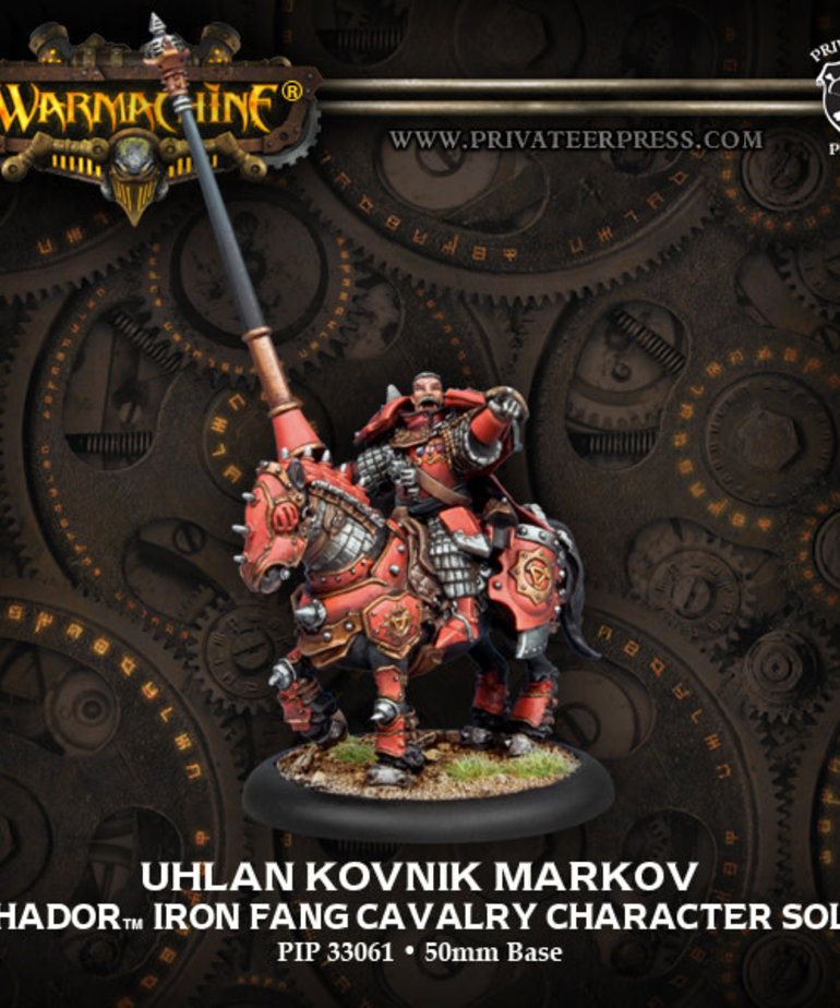 Privateer Press - PIP Warmachine - Khador - Uhlan Kovnik Markov - Iron Fang Cavalry Character Solo
