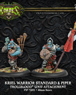 Privateer Press - PIP Hordes - Trollbloods - Kriel Warrior Standard & Piper - Unit Attachment