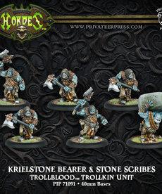 Privateer Press - PIP Hordes - Trollbloods - Krielstone Bearer & Stone Scribes - Trollkin Unit