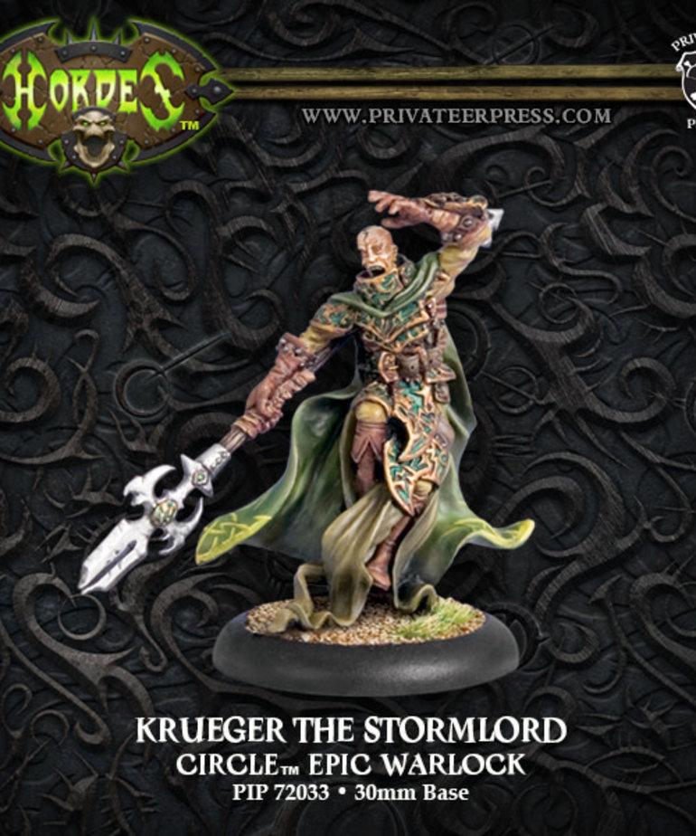 Privateer Press - PIP Hordes - Circle Orboros - Krueger the Stormlord - Epic Warlock (Krueger 2)
