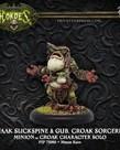 Privateer Press - PIP Hordes - Minions - Kwaak Slickspine & Gub, Croak Sorcerers - Croak Character Solo