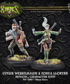 Privateer Press - PIP Hordes - Minions - Lynus Wesselbaum and Edrea Lloryrr - Character Unit