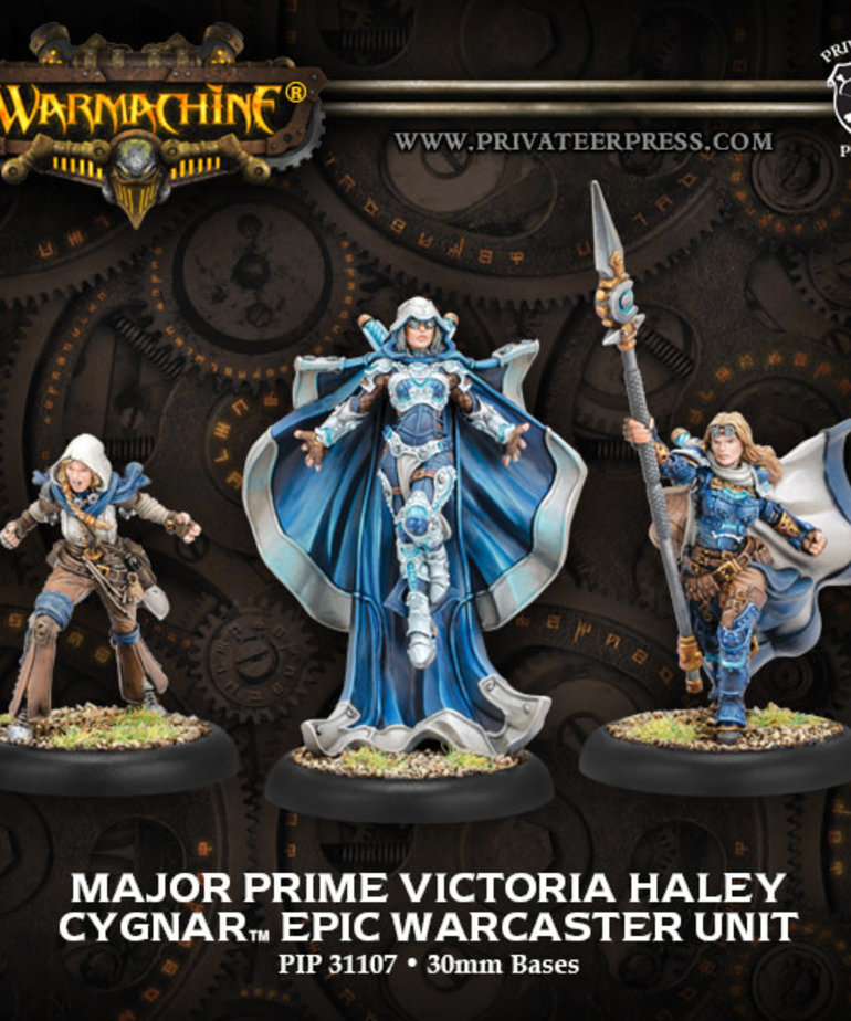 Privateer Press - PIP Warmachine - Cygnar - Major Prime Victoria Haley - Epic Warcaster Unit (Haley 3)