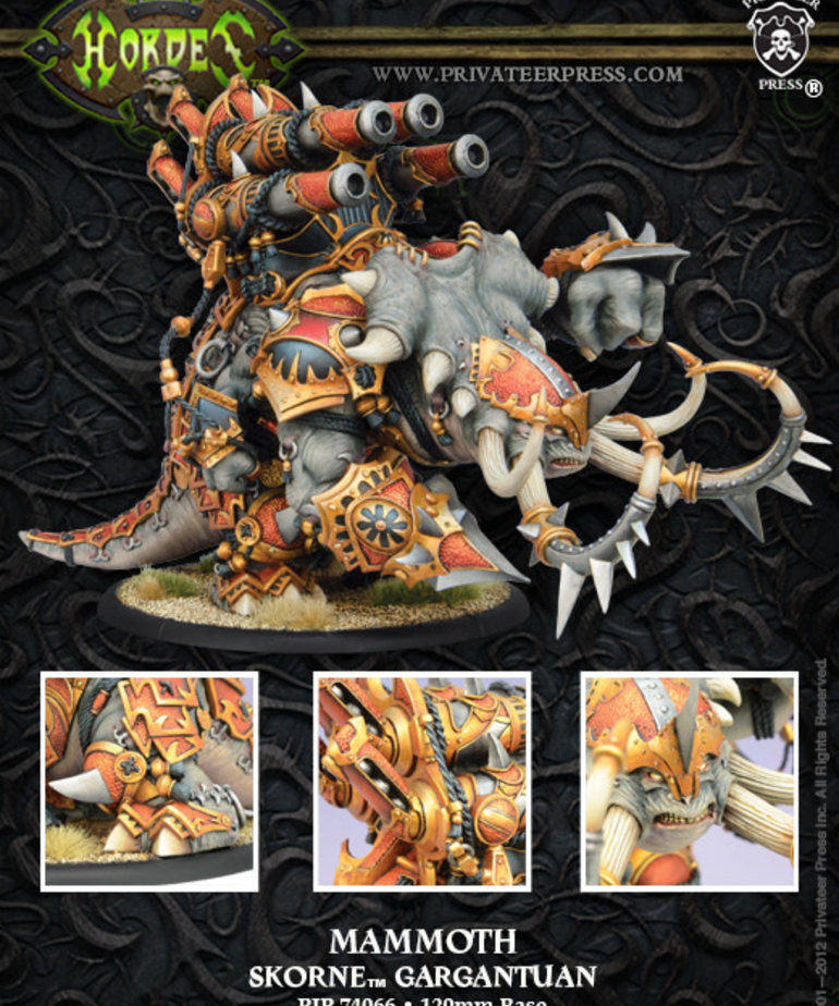 Privateer Press - PIP Hordes - Skorne - Mammoth - Gargantuan
