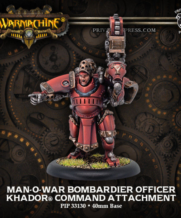 Privateer Press - PIP Warmachine - Khador - Man-O-War Bombardier Officer - Command Attachment