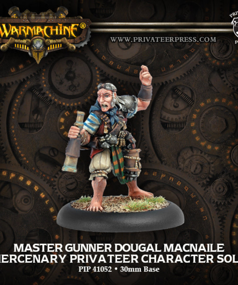 Privateer Press - PIP Warmachine - Mercenaries - Master Gunner Dougal MacNaile - Privateer Character Solo