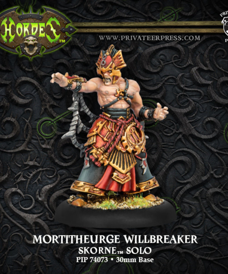 Privateer Press - PIP Hordes - Skorne - Mortitheurge Willbreaker - Solo