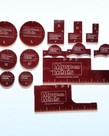 Muse On Minis - MOM Muse on Minis Red Template & Token Precision Measuring Set Templates & Tokens