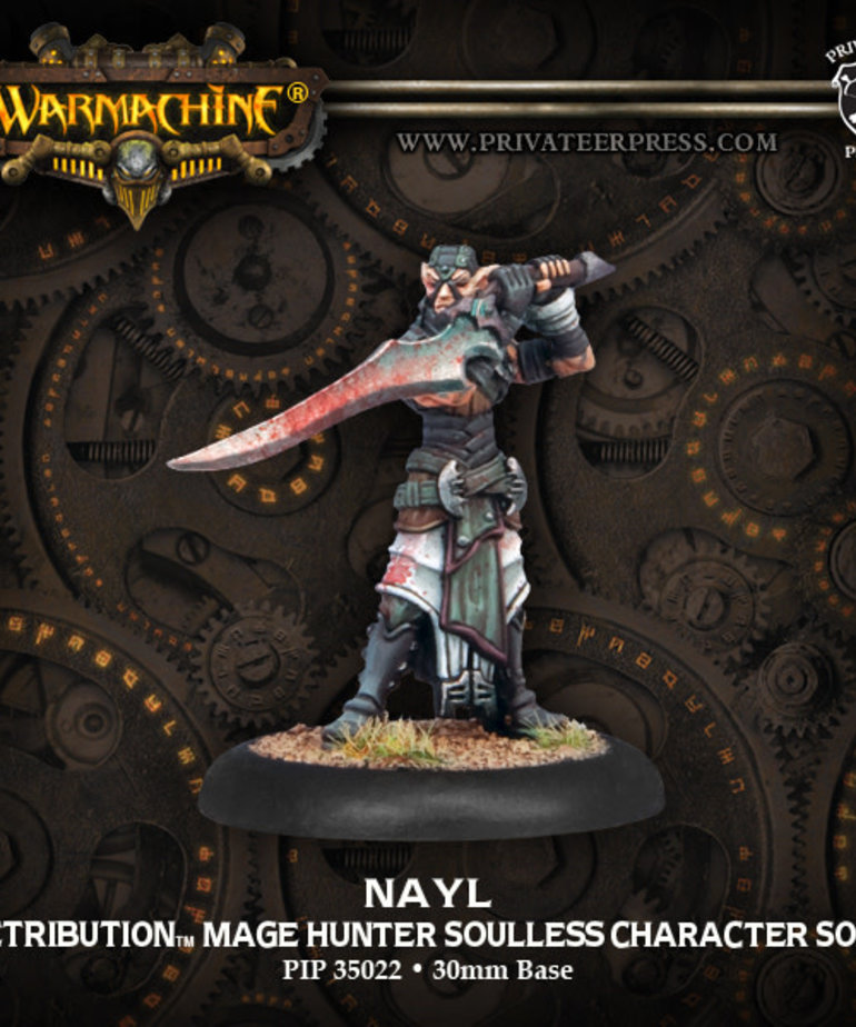 Privateer Press - PIP Warmachine - Retribution of Scyrah - Nayl Mage Hunter Soulless Character - Solo