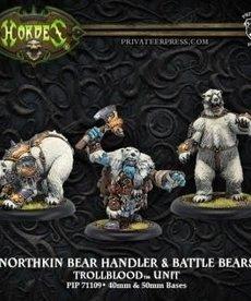 Privateer Press - PIP Hordes - Trollbloods - Northkin Bear Handler & Battle Bears - Unit