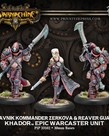 Privateer Press - PIP Warmachine - Khador - Obavnik Kommander Zerkova & Reaver Guard - Epic Warcaster Unit (Zerkova 2)